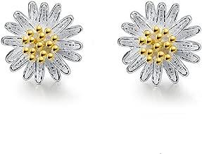 Lam Sence Sterling Silver Small Daisy Flower Stud Earrings