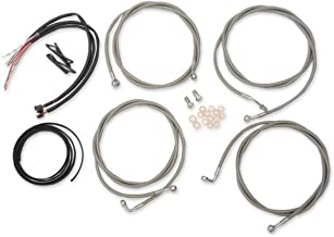 LA Choppers LA8054KT216 Complete Handlebar Cable/Brake & Clutch Line/Wire Kit - Stainless Braided