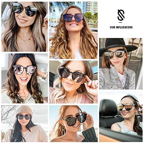 SOJOS Rotondi Occhiali da Sole Donna Vogue Moda