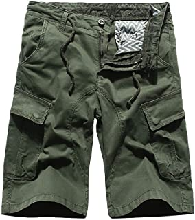 Pants Pure Color Shorts Bags Beach Modern Casual Men Outdoor Work Pants Cargo Pant 3/4 Men's Cargo Short Pants (Color : U-...