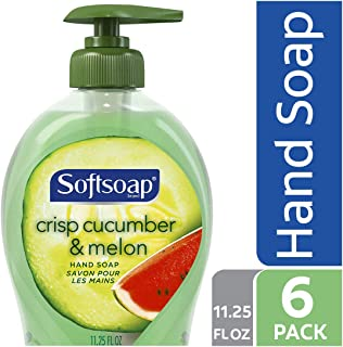 Softsoap Liquid Hand Soap, Crisp Cucumber and Melon - 11.25 fluid ounce (6 Pack)