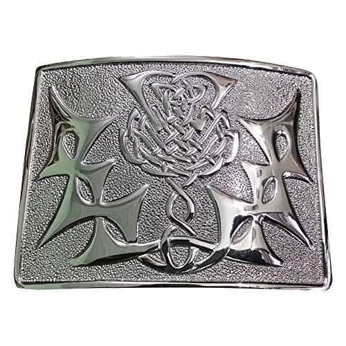 AAR Scottish Kilt Belt Buckle Design Chrome Finish