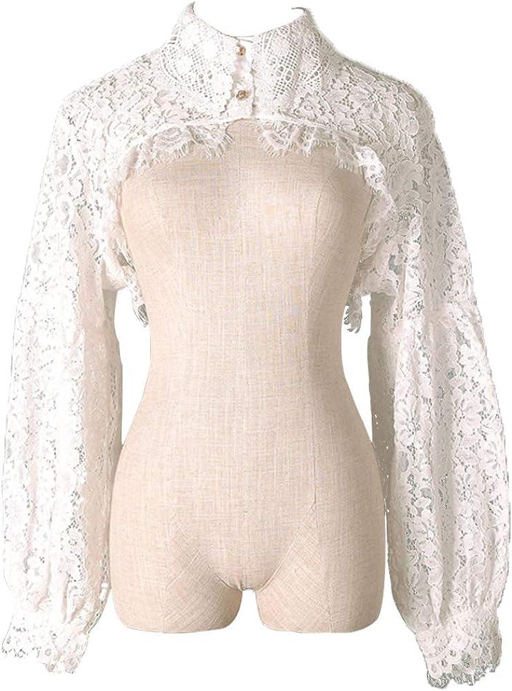 Elegtiskas Detachable Dickey Blouse False Collar Half Shirt Blouse Collar Crop Top