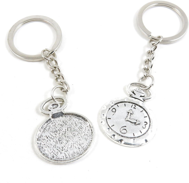 150 Pieces Fashion Jewelry Keyring Keychain Door Car Key Tag Ring Chain Supplier Supply Wholesale Bulk Lots U6BO7 Pocket Watch Clock