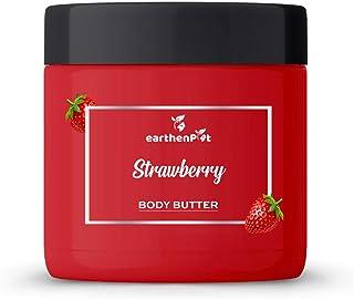 EarthenPot Strawberry Body Butter For Deep Moisturizing, 200 g