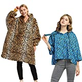 Catalonia Cheetah Oversized Hoodie Blanket…