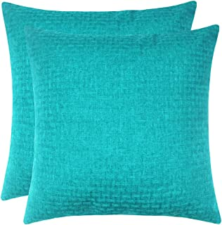 Artcest Set of 2 Decorative Faux Linen Throw Pillow Cases Burlap Stylish Cushion Covers for Sofa Couch and Bed, 20