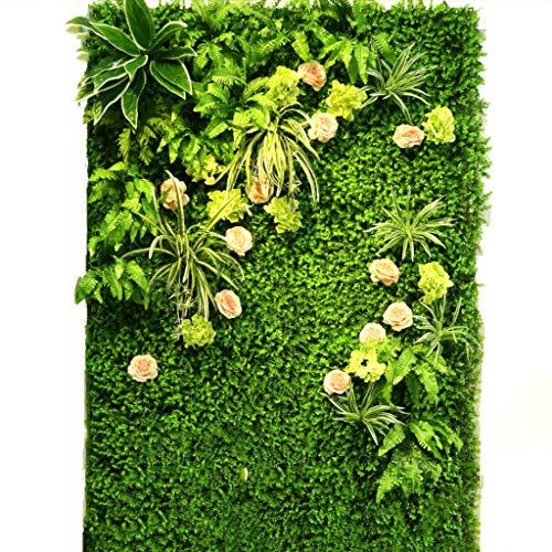 YNFNGXU Pared de fondo plástica del fondo de la pantalla de la privacidad de la flor falsa verde de la imitación del seto artificial for la decoración de la boda de la sala de estar de la tienda (0.96