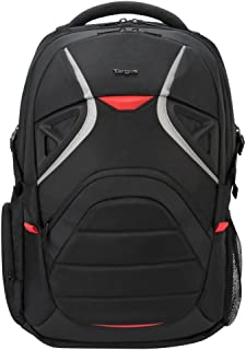 Targus Strike Large Gaming Travel Backpack with Security Pockets and Protection Sleeves for 17.3-Inch Laptop, Black/Red (TSB900US)