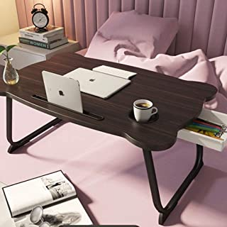 Portable Folding Standing Laptop Desk with Cup Slot, Lap Desk Laptop Bed Table, Sofa Breakfast Tray, Notebook Stand Readin...