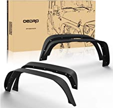 oEdRo Solid Steel Fender Flares Competible with 2007-2018 Jeep Wrangler JK & Unlimited Off-Road Front & Rear Flat 4 PCS Set
