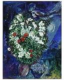 Germanposters Marc Chagall Blumenstrauss Poster Kunstdruck