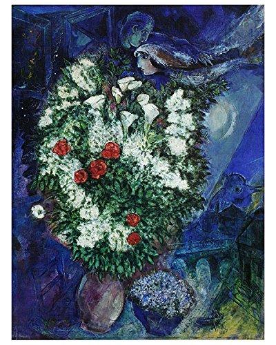 Germanposters Marc Chagall Blumenstrauss Poster Kunstdruck Bild 60x48cm