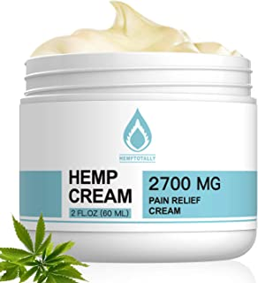 HempTotally Natural Organic Pain Relief Cream, 2700mg, Intensive Concentrate for Relief and Recovery