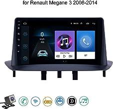 Android 8.1 Quad Core GPS Navegador Coche para Renault Megane 3 2008-2014 - FM Am Radio del Coche, Conexión a Internet WiFi/BT, Soporte DVR USB/Llamadas Manos Libres