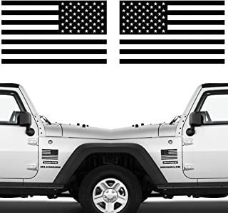 """Sponsored Ad - Die Cut Subdued Matte Black American Flag Sticker 3"""" X 5"""" Tactical Military Flag USA Decal Great for Car, H..."""