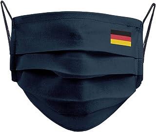 Cencibel Smart Casual Mascarilla Bandera Alemania Azul Marino y Gomas al Tono