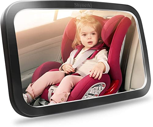 Shynerk Baby Car Mirror, Safety Car Seat Mirror for Rear Facing Infant with Wide Crystal Clear View, Shatterproof, Fu...