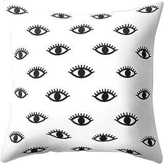 Colorido Eyes Pattern Print Throw Pillow Case Waist Cushion Cover Home Bed Sofa Decor size Medium (1#)