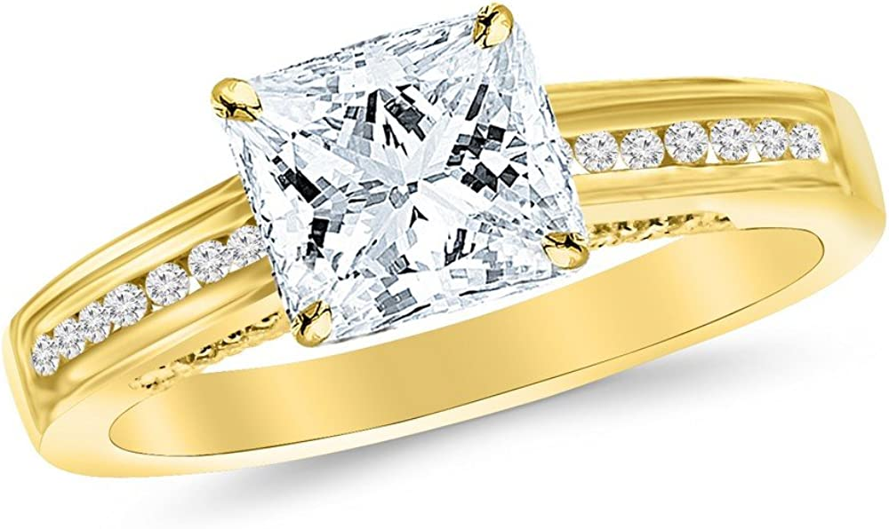 2.25 Ctw 14K White Gold Petite Channel Set GIA P Round SEAL limited product Sales of SALE items from new works Certified