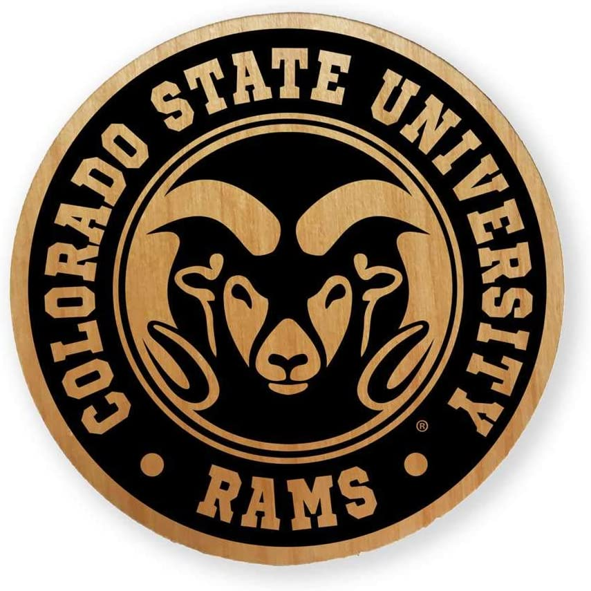Colorado State Outstanding Rams Alderwood Coasters New Free Shipping 4 of - Set