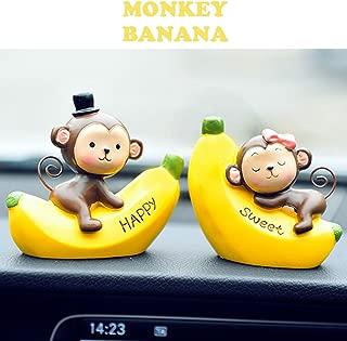 Keklle Creative Cute Monkeys Love Dashboard Decorations Car Home Office Ornaments Best Birthday Holiday Gift (Monkey Banana)