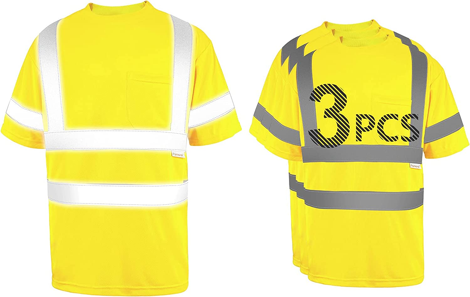 Pomerol High-Visibility Reflective Safety Packs Shirt Breathab 3 Many popular brands Large special price !!
