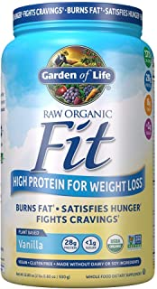 Garden of Life Raw Organic Fit Powder, Vanilla - High Protein for Weight Loss (28g) plus Fiber, Probiotics & Svetol, Organ...