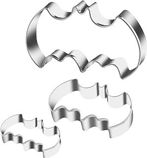 KSPOWWIN 3 Pack Cookie Cutters Set Stainless Steel Bat Shape Halloween Cookie Cutter