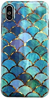 for iPhone 7 Plus Case, for iPhone 8 Plus Cover, Luxury Glossy Shiny Mermaid Phone Case Fish Scale Soft Silicone Case Shell Cover for iPhone11 Pro Max Xs Max XR 6S 7 8 Plus (for iPhone 7 Plus/8 Plus)