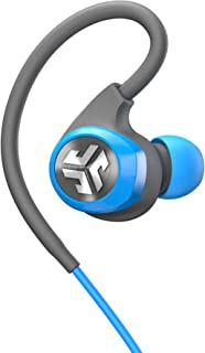 JLab Audio Epic2 Bluetooth 4.0 Wireless Sport Earbuds, GUARANTEED fitness, waterproof IPX5 rated, skip-free sound, pristine high-performance 8mm sound drivers, 12hr play time w/ microphone - Blue/Gray