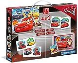 Un ricco kit con 4 giochi in 1 per divertirsi in compagnia dei personaggi di Disney Pixar Cars 3. Contiene: 1 puzzle da 30 pezzi, 1 gioco memo da 48 tessere, 1 gioco domino da 28 tessere e 6 cubi con le coloratissime immagini di Cars 3. Un gioco perf...
