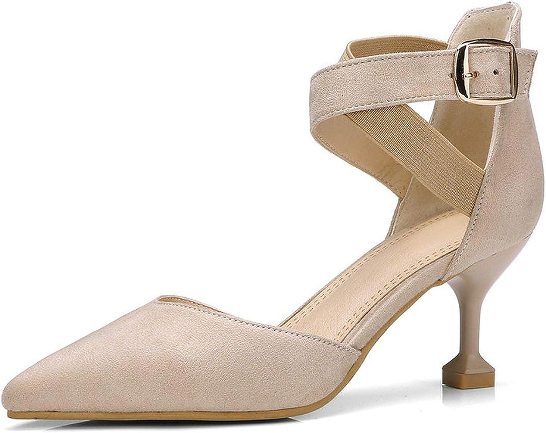 FINDDU 2019 Kvinnliga skor sommar High klackar 7CM Pump Pump Pump Kitten klackar skor Office Lady Classic Working skor  senaste stilar