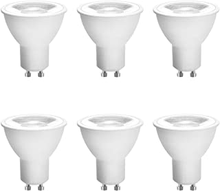 GU10 LED Bulb Dimmable, Daylight, 7W Equivalent 50W, 60W Halogen, 5000K UL Listed, COB Flood Spotlight 640LM , AC 120V CRI 82, GU10 Base (6 Pack) by Eco.Luma