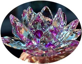 Cristal de cuarzo de cristal de loto de piedra natural y minerales fósiles flor de cristal para la boda de la familia artesanías (10cm)