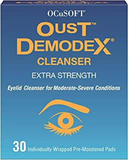 Oust Demodex Cleanser (Extra Strength) - 30 Pre-Moistened Pads