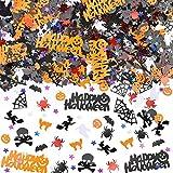 HOWAF 2000 + Pezzi Halloween coriandoli Zucche Ragni Pipistrelli Streghe Teschi Ragnatele Fantasma coriandoli di Tavolo Halloween Decorazioni per Feste Forniture