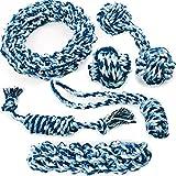 Ksnrang Hundespielzeug,Kauspielzeug Interaktives Spielzeug Set Baumwollknoten Spielset Seil Spielzeug für Kleine mittlere große Hunde und Welpen für Zahnreinigung Geeignet (6Pcs)