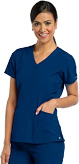 Barco ONE 4-Pocket V-Neck Top for Women - 4-Way Stretch Medical Scrub Top