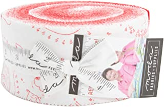 REDiculously in Love Jelly Roll 40 2.5-inch Strips by Me and My Sister Designs for Moda Fabrics 22360JR