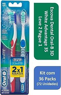f00d6b4cd Kit Escova Dental Oral-B 3D White Advantage 35 L2P1 com 36 Packs