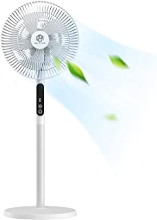 Pedestal Fan Oscillating Stand Fan with USB-driven, 8-Speed and 8 Hours Timer, Quiet Cooling Fan for Home, Office, Indoor ...