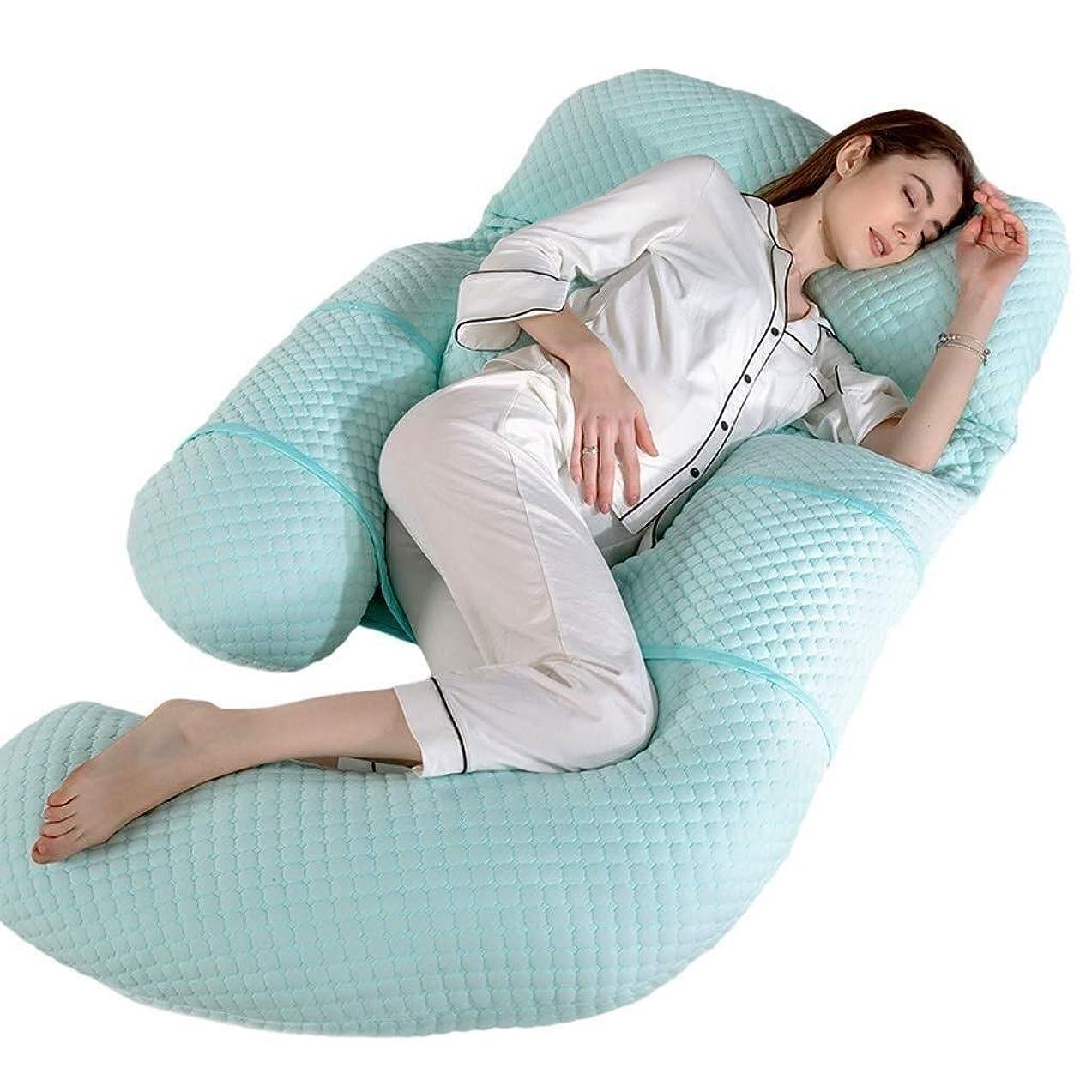 アプローチ毛細血管見分ける妊娠枕、U字型全身枕マタニティサポート取り外し可能な延長-背中、腰、脚、腹部をサポート