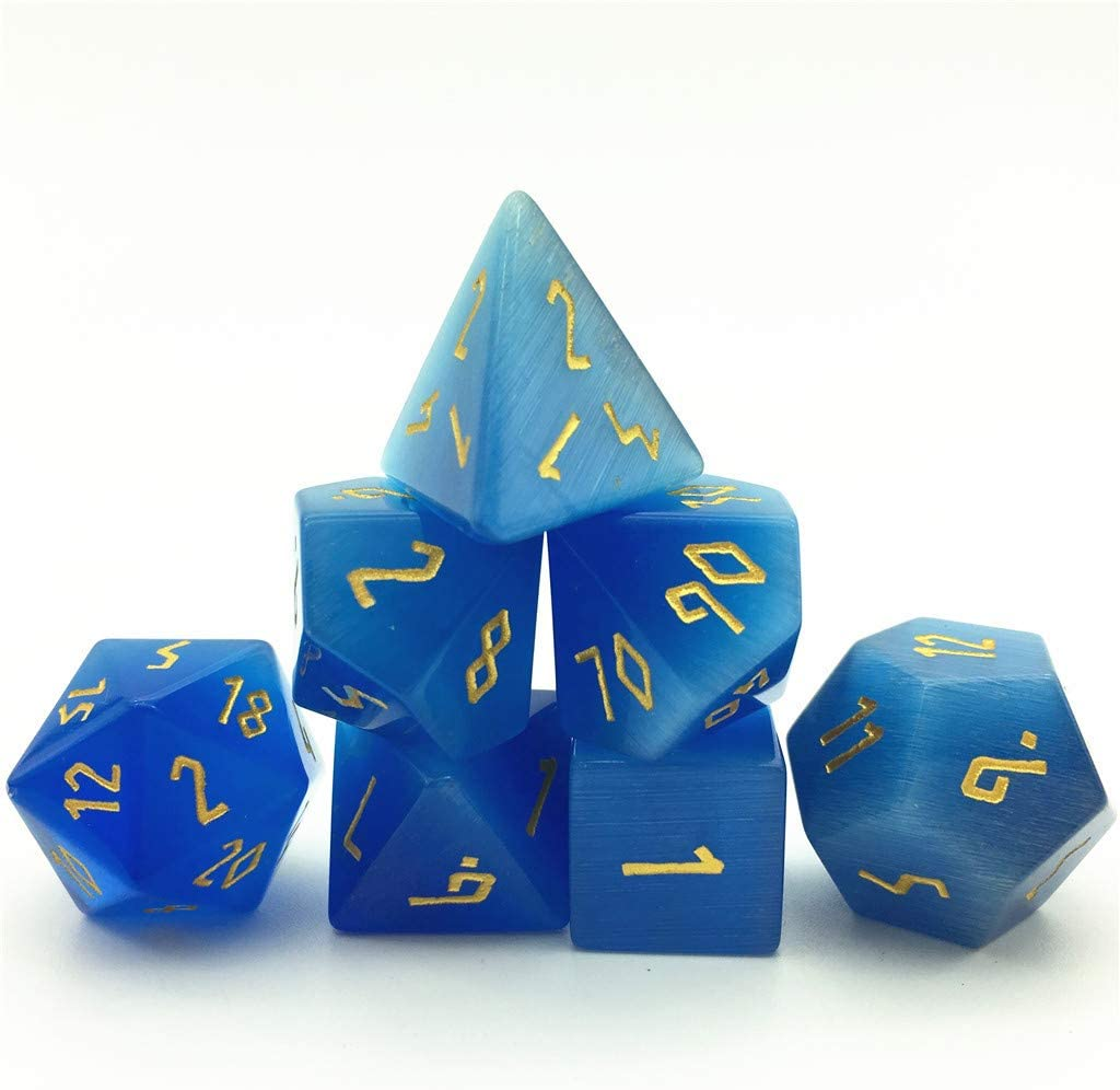 Truewon Deformed Font RPG Stone Dice Dices Handmade Set Classic DND Cheap mail order specialty store for