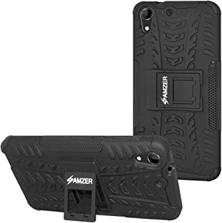 AMZER Pudding Soft Gel TPU Skin Fit Case Cover Skin for HTC Desire 728G - Retail Packaging - Black