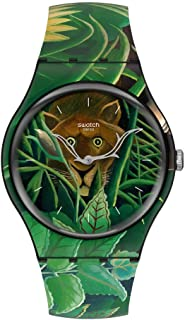 Swatch NEW GENT Quartz Silicone Strap, Green, 20 Casual Watch (Model: SUOZ333)