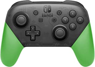 Anti-Slip Grip Shell for Switch Pro Controller, DIY Delicate and Textured Replacement Grip Handles Cover Shell for Nintendo Switch Pro Controller(Green)