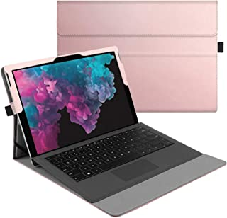 Fintie Case for New Microsoft Surface Pro 7 / Pro 6 / Pro 5 / Pro 4 / Pro 3 12.3 Inch Tablet - Multiple Angle Viewing Portfolio Business Cover, Compatible with Type Cover Keyboard (Rose Gold)