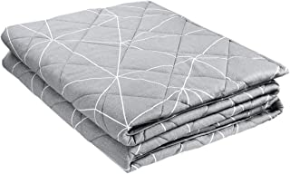 Sivio Weighted Blanket 80 x 87 inches 15 lbs for 140-190 lbs Individual, Innovative Heavy Blanket for Deep Sound Sleep in All Weathers, 100% Cotton with Quiet Non-Toxic Glass Beads