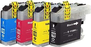 LC110 (BK/C/M/Y)4色用 ブラザー用プレミアム洗浄カートリッジ 残量表示対応 最新ICチップ 説明書あり【楽とく商品一年保証】Morishop製